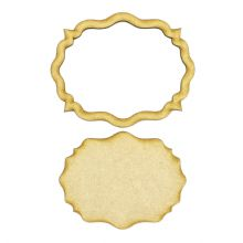 Frame and Panel 17 - Wooden 3mm MDF Laser Cut Craft Blank Scrapbook Topper